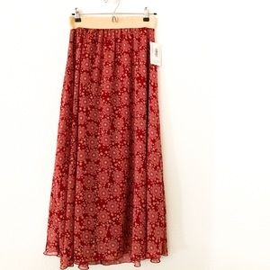 NWT LulaRoe Lucy Floral Maxi Skirt